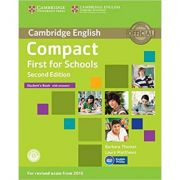 Compact First for Schools - Student's Book (with Answers and CD-ROM)