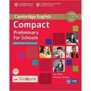 Compact Preliminary for Schools - Student's Book (without Answers with CD-ROM and Testbank)