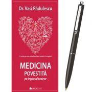 Pachet Medicina povestita pe intelesul tuturor de Dr. Vasi Radulescu si Pix cu mecanism Schneider K15 (Cadou)