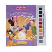 Disney. Minnie. Sa pictam cu Minnie. Carte de colorat cu pensula si acuarele