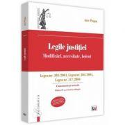 Legile justitiei. Modificari, necesitate, boicot. Comentariu pe articole. Editia a 2-a. Legea nr. 303-2004, Legea nr. 304-2004, Legea nr. 317-2004 - Ion Popa