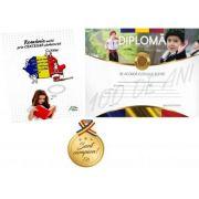 Romania unita prin CENTENAR sarbatorita - 6-10 ani - Contine diploma si medalie cadou