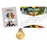 Romania unita prin CENTENAR sarbatorita - varsta 10+ ani - Contine diploma si medalie cadou
