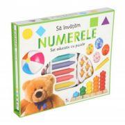 Sa invatam numerele. Set educativ cu puzzle