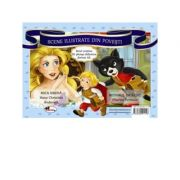 Scene ilustrate din povesti: Mica sirena; Motanul incaltat - Hans Christian Andersen, Charles Perrault