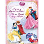 Aurora si dragonul cel folositor. Alba-ca- Zapada si magia prieteniei (Carte + CD audio) - Disney