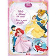 Belle si catelusul din castel. Ariel si puiul de delfin (Carte + CD audio) - Disney