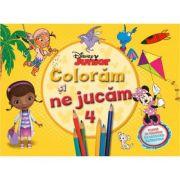 Coloram si ne jucam (vol. 4). Planse de colorat cu activitati distractive - Disney
