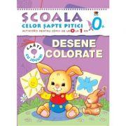 Desene colorate. (0-1 ani). Scoala celor sapte pitici