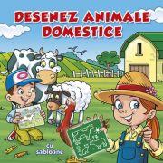Desenez animale domestice – cu sabloane (carte de colorat)