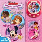 Disney Junior. Povesti muzicale. Doctorita Plusica, Sofia Intai, Minnie (include CD- Player)