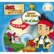 Jake si piratii din Tara de Nicaieri. Mergeti dupa sunet! Hau sa sarim! (format mic) (Carte + CD audio) - Disney