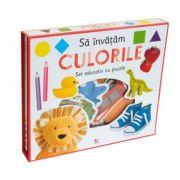 Sa invatam culorile. Set educativ cu puzzle