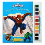 Spider-man. Sa pictam cu Spider-Man. Carte de colorat cu pensula si acuarele - Disney