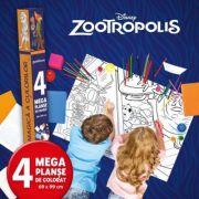 Zootropolis. Lumea magica a culorilor. 4 megaplanse de colorat - Disney