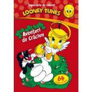 Looney Tunes. Aventuri de Craciun. Carte de colorat + activitati