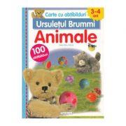 Ursuletul Brummi: Animale 3-4 ani - Lieve Boumans (Carte cu abtibilduri)