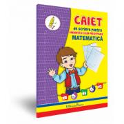 Matematica, caiet de scriere pentru gradinita si clasa pregatitoare