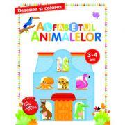 Desenez si colorez. Alfabetul animalelor 3-4 ani