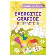 Exercitii grafice distractive. Coloreaza si invata, 5-7 ani - Sveta Albu
