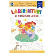 Labirinturi si activitati logice. Coloreaza si stimuleaza, 4-6 ani - Sveta Albu