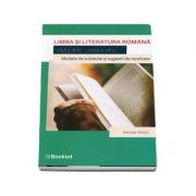Simulare, limba si literatura romana pentru clasa a VII-a.