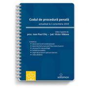 Codul de procedura penala – actualizat la 1 octombrie 2019 - IOAN PAUL CHIS, VICTOR VADUVA