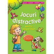 Jocuri distractive pentru timpul liber - Distractiv si educativ. Invata, numara, observa, scrie (Verde)