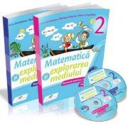 Matematica si explorarea mediului. Manual pentru clasa a II-a, partea I si partea a II-a, cu CD - Iliana Dumitrescu, Nicoleta Ciobanu, Alina Carmen Birta