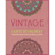Vintage. Carte de colorat. O selectie incantatoare de modele clasice