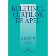 Buletinul Curtilor de Apel nr. 8-9/2019