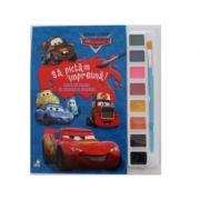DISNEY. MASINI. SA PICTAM IMPREUNA! Carte de colorat cu pensule si acuarele (format mic)