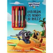 Disney. Prietenii catelusi. Coloram cu Bingo si Rolly. Contine 4 creioane cerate
