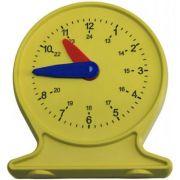 Ceas demonstrativ din plastic colorat cu diametrul de 10 cm