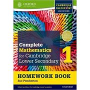 Complete Mathematics for Cambridge Lower Secondary Homework Book 1 (Pack of 15): For Cambridge Checkpoint and beyond - Sue Pemberton