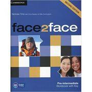face2face Pre-intermediate Workbook with Key - Nicholas Tims, Chris Redston, Gillie Cunningham
