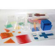 Set 6 corpuri geometrice - forme desfasurate din plastic