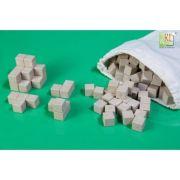 Set matematic 150 cuburi colorate - din lemn reciclat