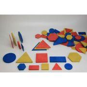 Set Tangram 60 piese - din lemn reciclat