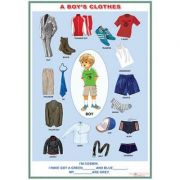 A boy's clothes /A girl's clothes (DUO) - Plansa viu colorata, cuprinzand 2 teme distinct
