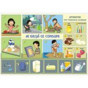 Ai grija ce si cum consumi/Regimul zilei (DUO) - Plansa cu 2 teme distinct