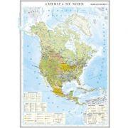 America de Nord. Harta economica 1000x1400 mm (GHC10E)