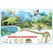Animalele disparute / Curtea fermierului - Plansa cu 2 teme distincte