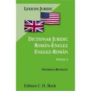 Dictionar juridic roman-englez/englez-roman. Editia 2 - Onorina Grecu