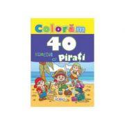 Coloram 40 imagini cu pirati