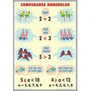 Compararea numerelor / Unitatii de masurat lungimi (DUO) - Plansa cu 2 teme distincte