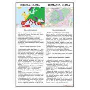 Europa. Clima/ Romania. Clima - Plansa 700x1000mm, cu sipci (GP9)