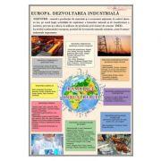 Europa. Dezvoltarea industriala - Plansa 700x1000mm, cu sipci (GP10)