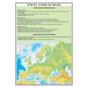 Europa. Forme de relief - Plansa 700x1000mm, cu sipci (GP8)