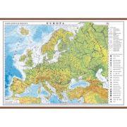 Europa. Harta fizica si politica 1600x1200 mm cu sipci (GHEF160)
